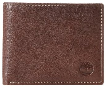 Timberland Men's Blix Leather Passcase, Brown, One Size at Amazon Men's Clothing store: Bifold Wallets