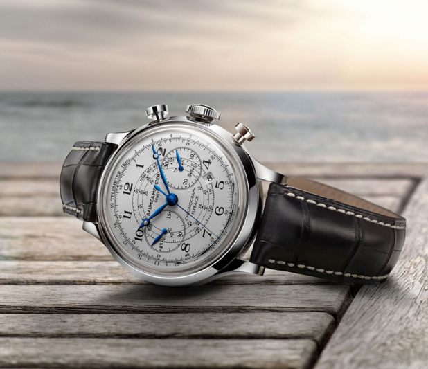 Baume and Mercier Capeland White Dial Chronograph Men's Watch 10006 - Capeland - Baume & Mercier - Shop Watches by Brand - Jomashop