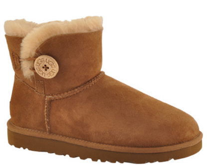 UGG Mini Bailey Button Boot - Blue Jay - FREE Shipping & Exchanges | Shoebuy.com