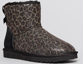UGG� Australia Booties - Mini Bailey Bow Glitter | Bloomingdale's