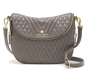 VINCE CAMUTO RIZO3- QUILTED LEATHER ROUNDED CROSS BODY