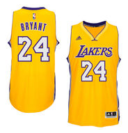 Mens Los Angeles Lakers Kobe Bryant adidas White 2014-15