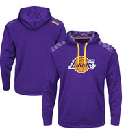 Men's Los Angeles Lakers Majestic Purple Armour Synthetic Performance Pullover Hoodie