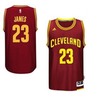 Men's Cleveland Cavaliers LeBron James adidas Wine 2014-15