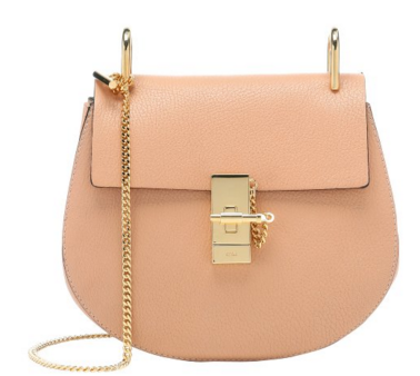 Chloe rose lambskin small 'Drew' chainlink shoulder bag | BLUEFLY