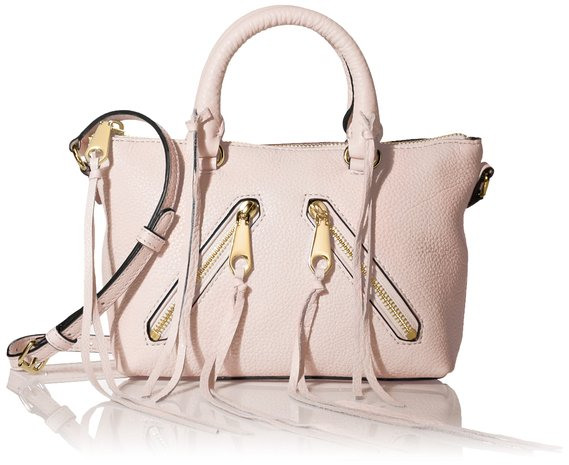 Rebecca Minkoff Micro Moto Satchel Cross Body, Baby Pink