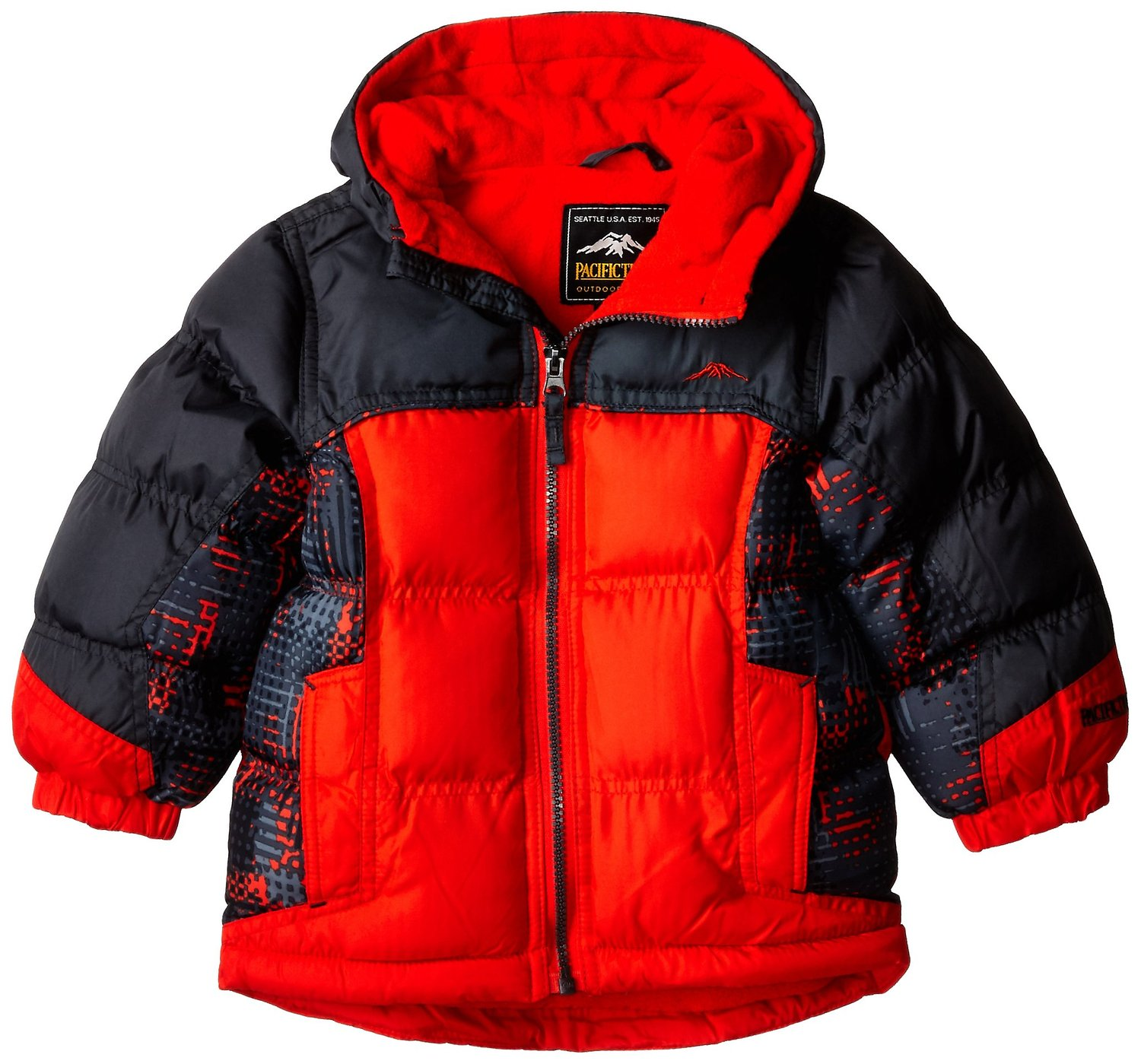 Amazon.com: Pacific Trail Big Boys' Puffer Coat with Print Blocking: Clothing