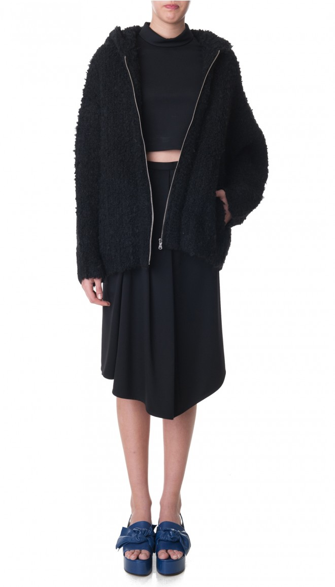 Boucle Cozy Hooded Cardigan - Sale   Official Site