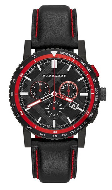 Burberry Men's Black Plated Stainless Steel Watch