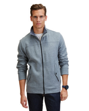 ELBOW PATCH TRACK JACKET