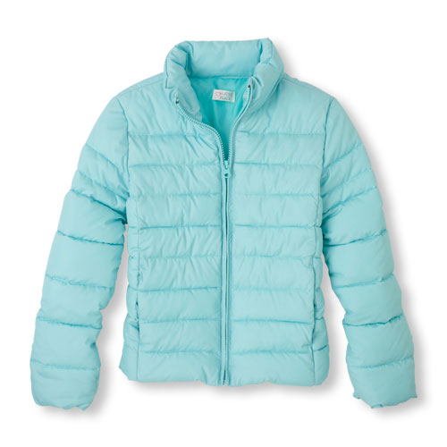 Girl's Solid Puffer Jacket