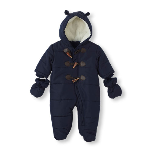 Hooded Toggle Snowsuit with Mittens