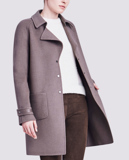 LISA COAT IN DOUBLE FACED WOOL