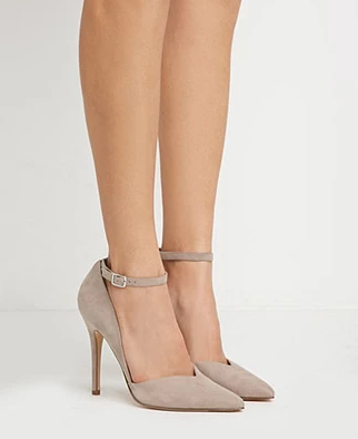 Faux Suede Pointed Pumps