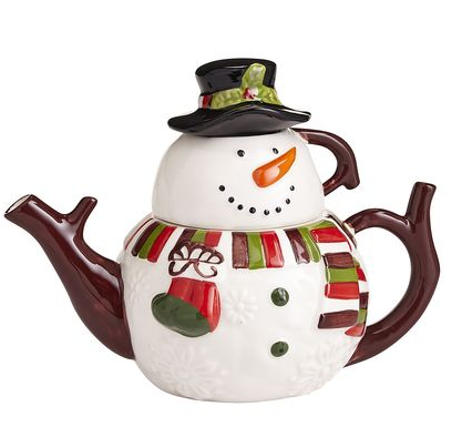 Snowman Tea for One雪人茶壶+茶杯