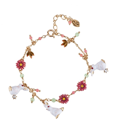FANTASY GARDEN RABBITS AND WILD FLOWER BRACELET