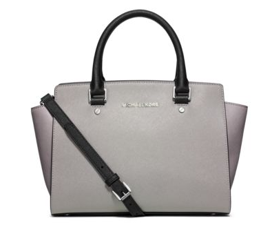 MICHAEL MICHAEL KORS  Selma Medium Color-Block Leather Satchel