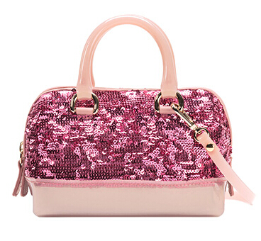 Furla Candy Satchel Winter Rose