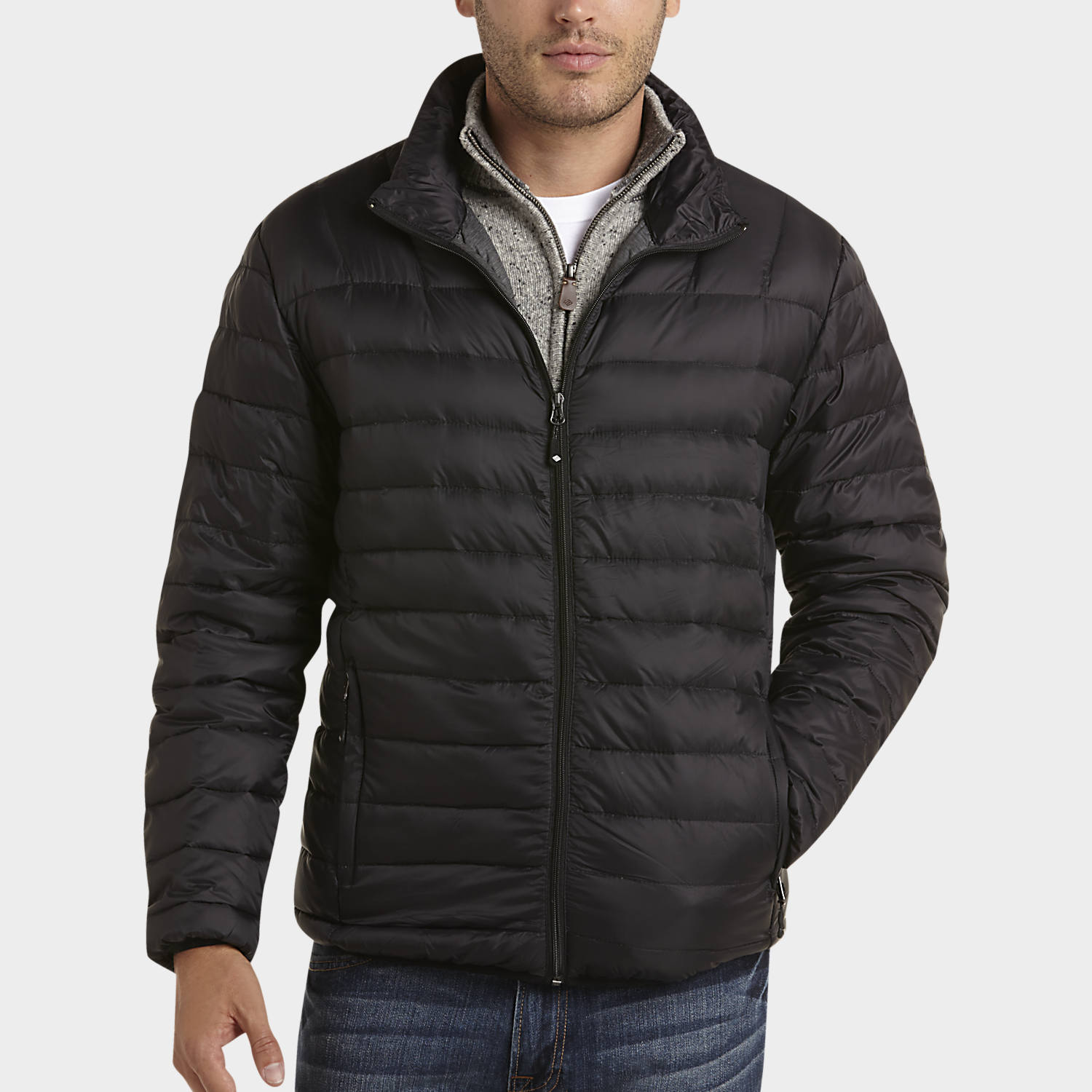Joseph Abboud Black Classic Fit Down-Filled Jacket - Casual Jackets | Men's Wearhouse