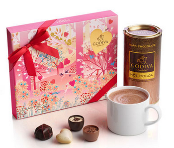21 pc. Valentines Day Gift Box and Dark Cocoa Gift Set