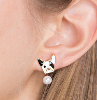 Happy Frenchie Pearl Ear Jacket Earrings – Show Poni