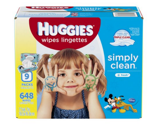 Huggies Simply Clean Baby Wipes, Fresh Scent, Soft Pack, 648 Ct