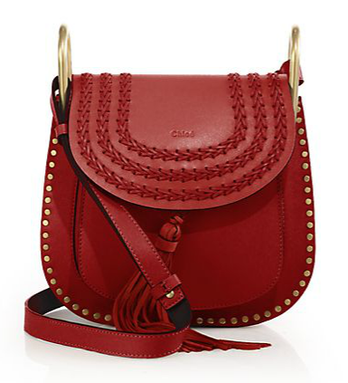 Chloé Hudson Small Studded & Braided Leather Shoulder Bag