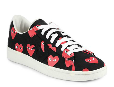 Comme des Garcons Play  Canvas Lace-Up Sneakers