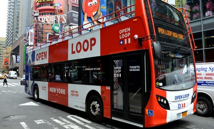 One-Day Uptown and Downtown Double-Decker Bus Ticket from Open Loop New York (Up to 37% Off)