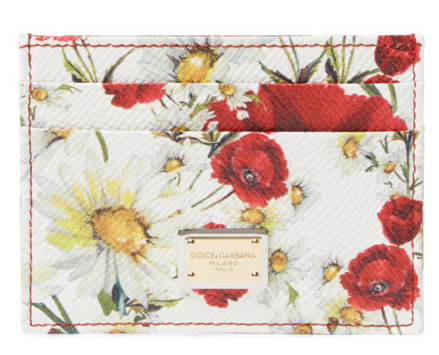 Dolce & Gabbana Printed Leather Card Holder