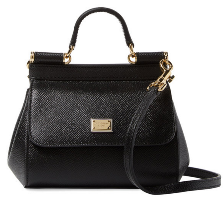 Dolce & Gabbana Miss Sicily Mini Leather Satchel