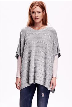 Women's Cable-Knit Poncho   Old Navy