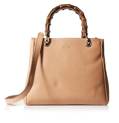 GUCCI Women's Bamboo Shopper Leather Tote, Beige at MYHABIT