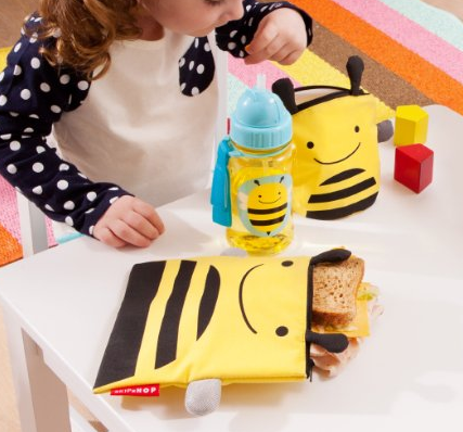Amazon.com: Skip Hop Zoo Reusable Sandwich and Snack Bag Set, Bee: Baby