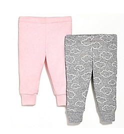 SKIP*HOP® 2-Pack Baby Pants in Pink/Grey