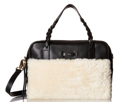 Foley + Corinna Women's Cable Top Handle Satchel, Shearling Combo