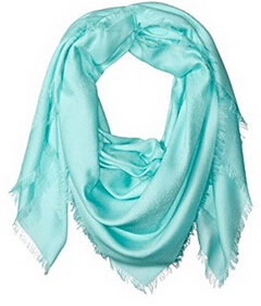Versace Woven Scarf, Turquoise