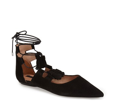 Topshop'Leather Kiss' Pointy Toe GhillieFlat (Women) | Nordstrom
