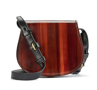 WOOD-GRAIN MINI SADDLEBAG