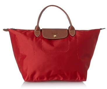 Longchamp Women's Le Pliage Sac Dame Porte Main Medium Tote, Red, One Size