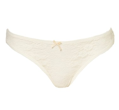 Topshop Embroidered Lace Thong