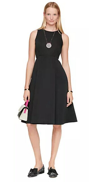 satin faille fit and flare dress - kate spade new york