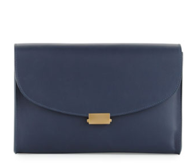 Mansur Gavriel Flat Leather Clutch Bag