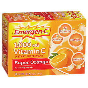 Emergen-C 1000 MG - Orange (30 Packets) by Alacer at the Vitamin Shoppe