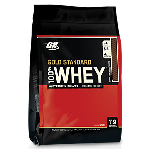 100% Whey Gold Standard - DOUBLE RICH CHOCOLATE (8 Pound Powder) by Optimum Nutrition at the Vitamin Shoppe