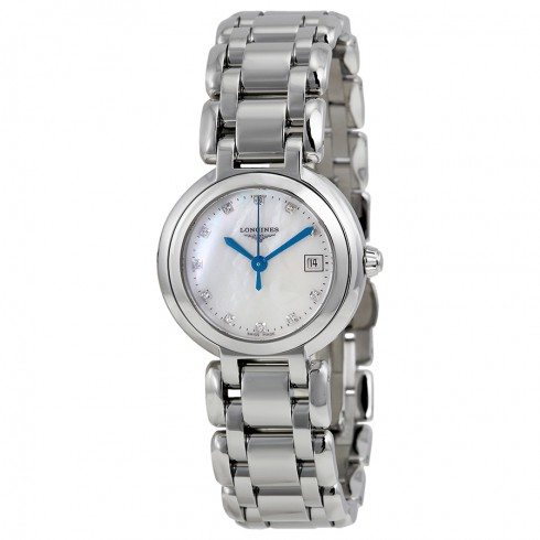 Longines PrimaLuna White Mother of Pearl Dial Stainless Steel Ladies Watch L81104876 - Primaluna - Longines - Shop Watches by Brand - Jomashop