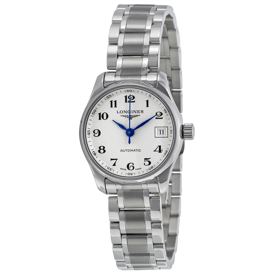 Longines Master Silver Dial Stainless Steel Ladies Watch L21284786 - Master Collection - Longines - Shop Watches by Brand - Jomashop