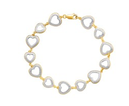 Heart Link Bracelet with Diamond