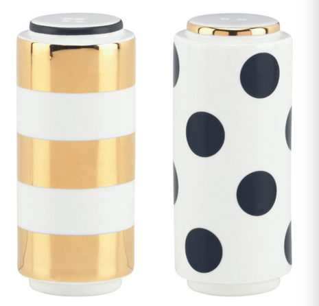 Dot/Stripe Salt & Pepper Shakers