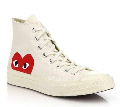Comme des Garcons Play  Peek-A-Boo Canvas Sneakers